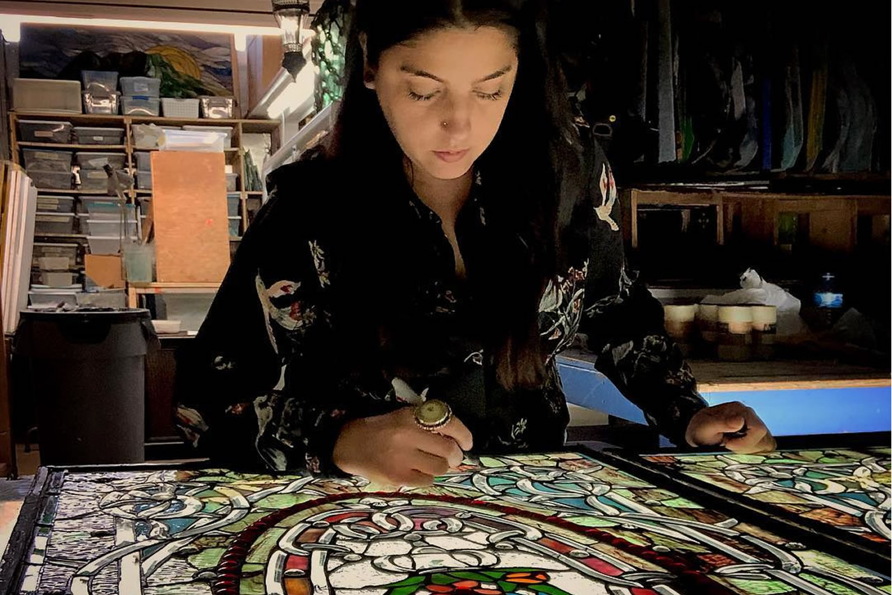 Ana Artist at Stained Glass of Miami